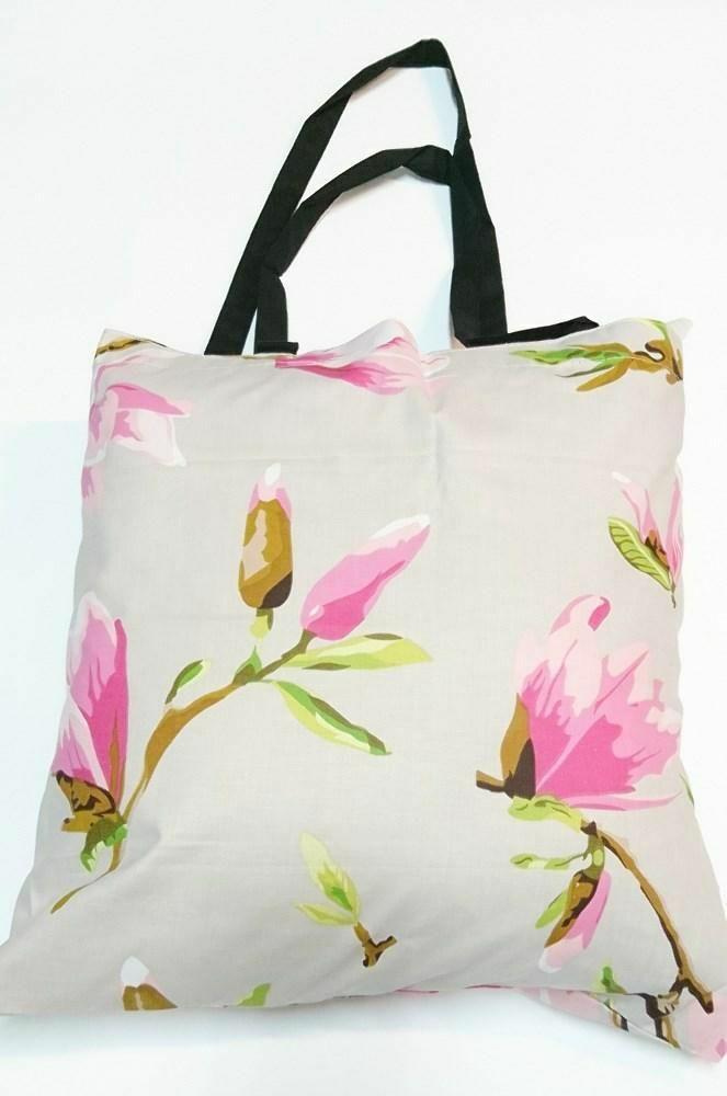 Torba bawełniana na zakupy 37x38 1602E szara magnolia 1046N