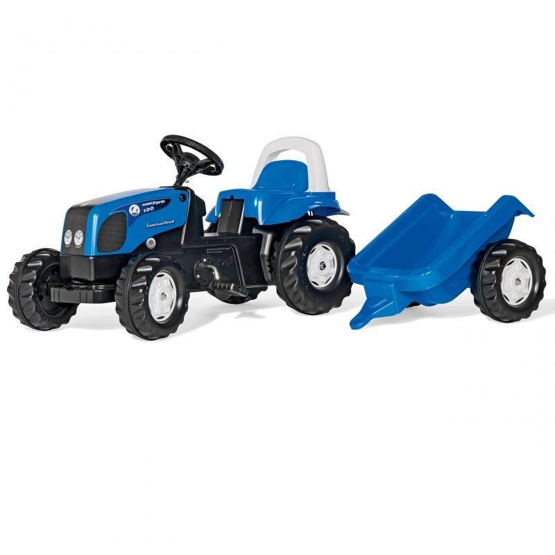 Traktor Rolly Toys Kid Landini z przyczepką LK