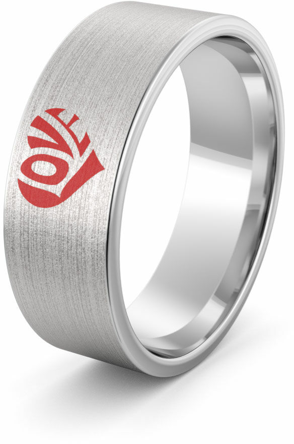 Obrączka srebrna LOVE - wzór Ag-386