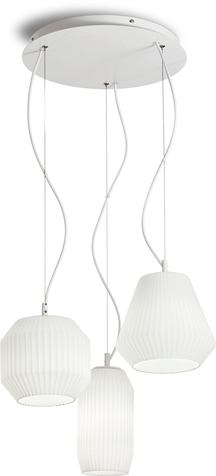 Żyrandol Origami Sp3 198095 Ideal Lux lampa wisząca w kolorze białym