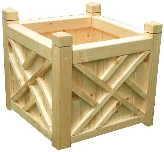 Kwadratowa drewniana donica ogrodowa 15 kolorów - Irma