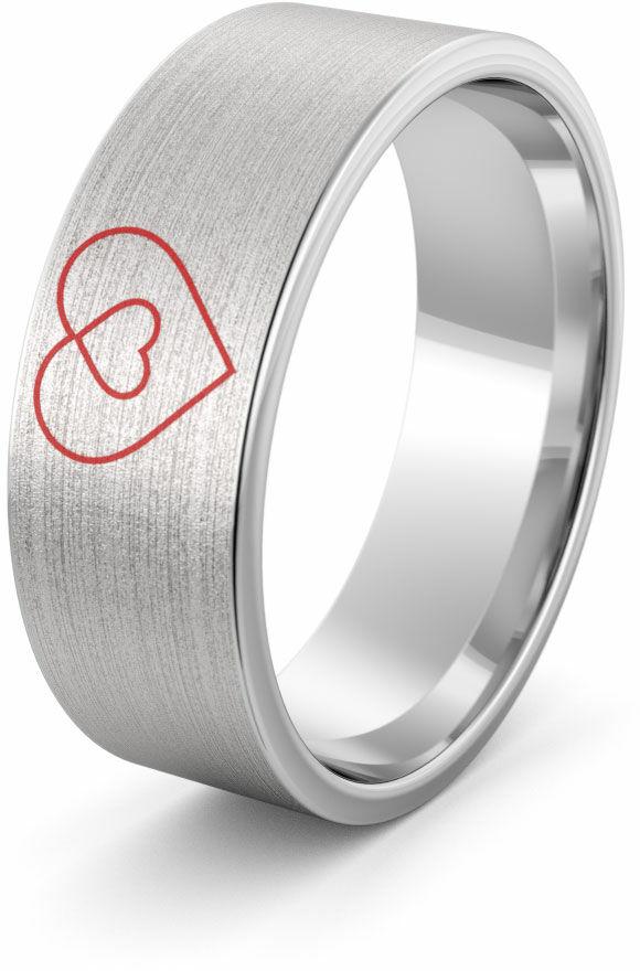 Obrączka srebrna z odwróconymi sercami - wzór Ag-386