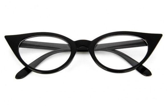 Okulary Damskie Kocie Oczy Zerówki STEC-08