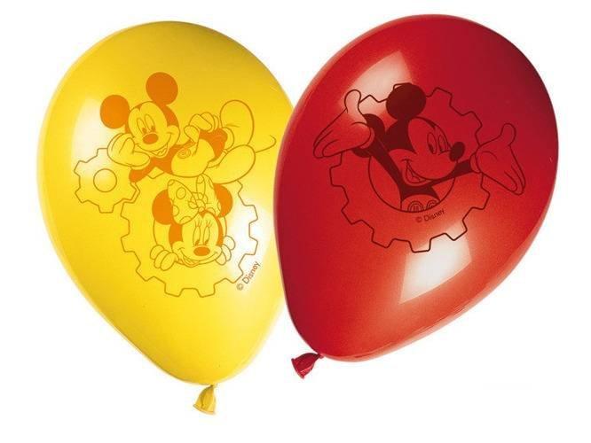 Balony urodzinowe Myszka Mickey - 28 cm - 8 szt