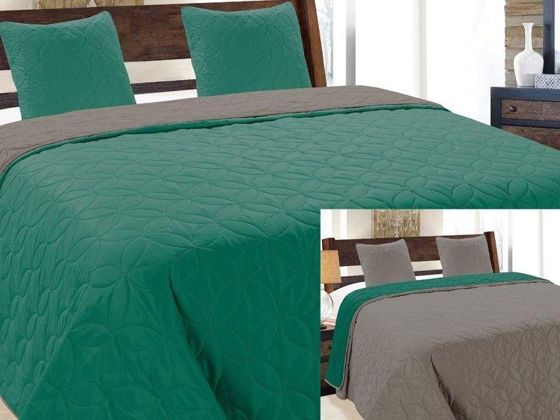 Dwustronna Narzuta Vigo II Emerald Szary Grafit 006