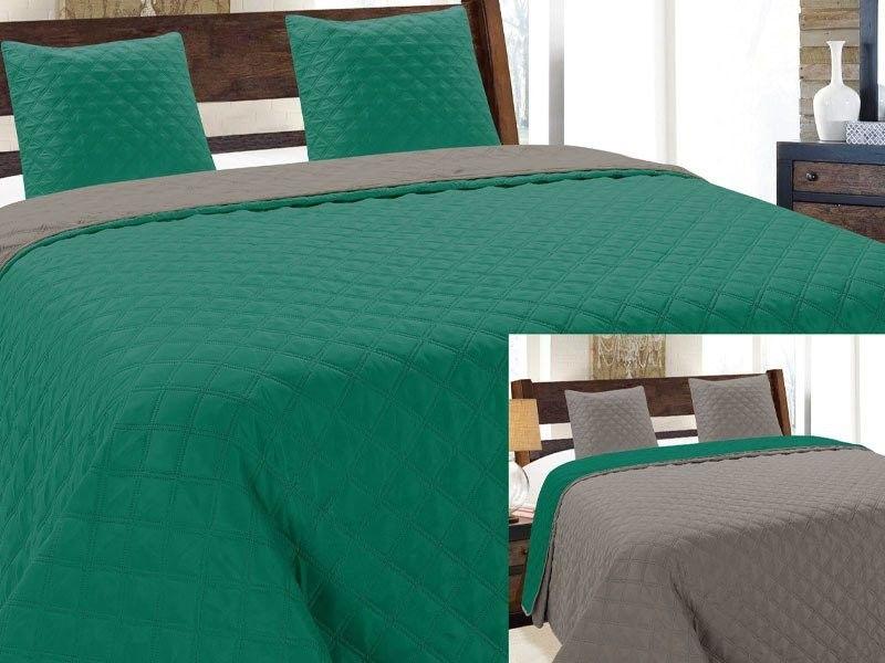 Dwustronna Narzuta Vigo II Emerald Szary Grafit 013