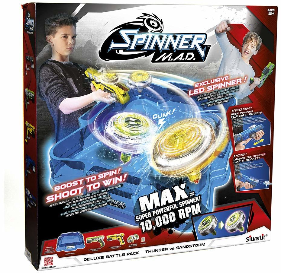 Rocco Giocattoli 86331 Spinner MAD Arena Battle Pack Deluxe