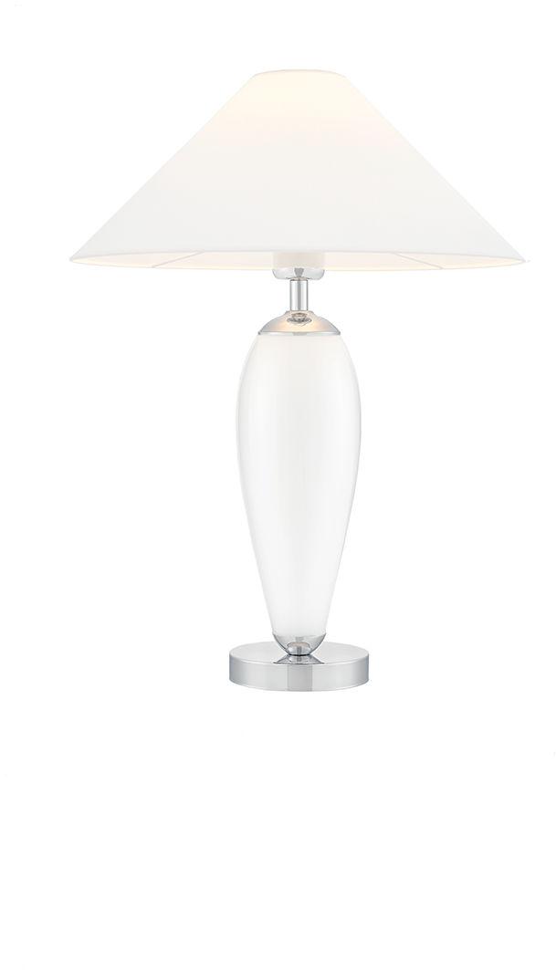 Lampa stołowa Rea 40601101 oprawa biała / abażur biały Kaspa