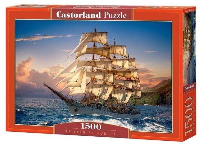 Puzzle 1500 Zachód słońca na żaglach CASTOR - Castorland