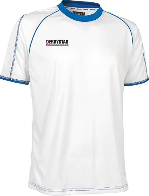 Derbystar Koszulka piłkarska Uni Energy krótka biały biały/niebieski 140-152