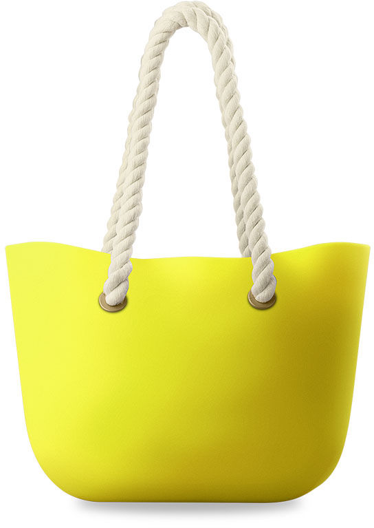SILIKONOWA TOREBKA TORBA SHOPPER BAG,JELLY BAG - GUMA - ŻÓŁTY
