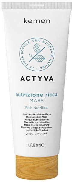 Kemon Actyva Nutrizione Ricca maska 200ml nawilża suche włosy