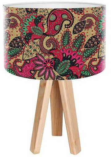 Lampa stołowa mini-trójnóg Melodia kwiatów
