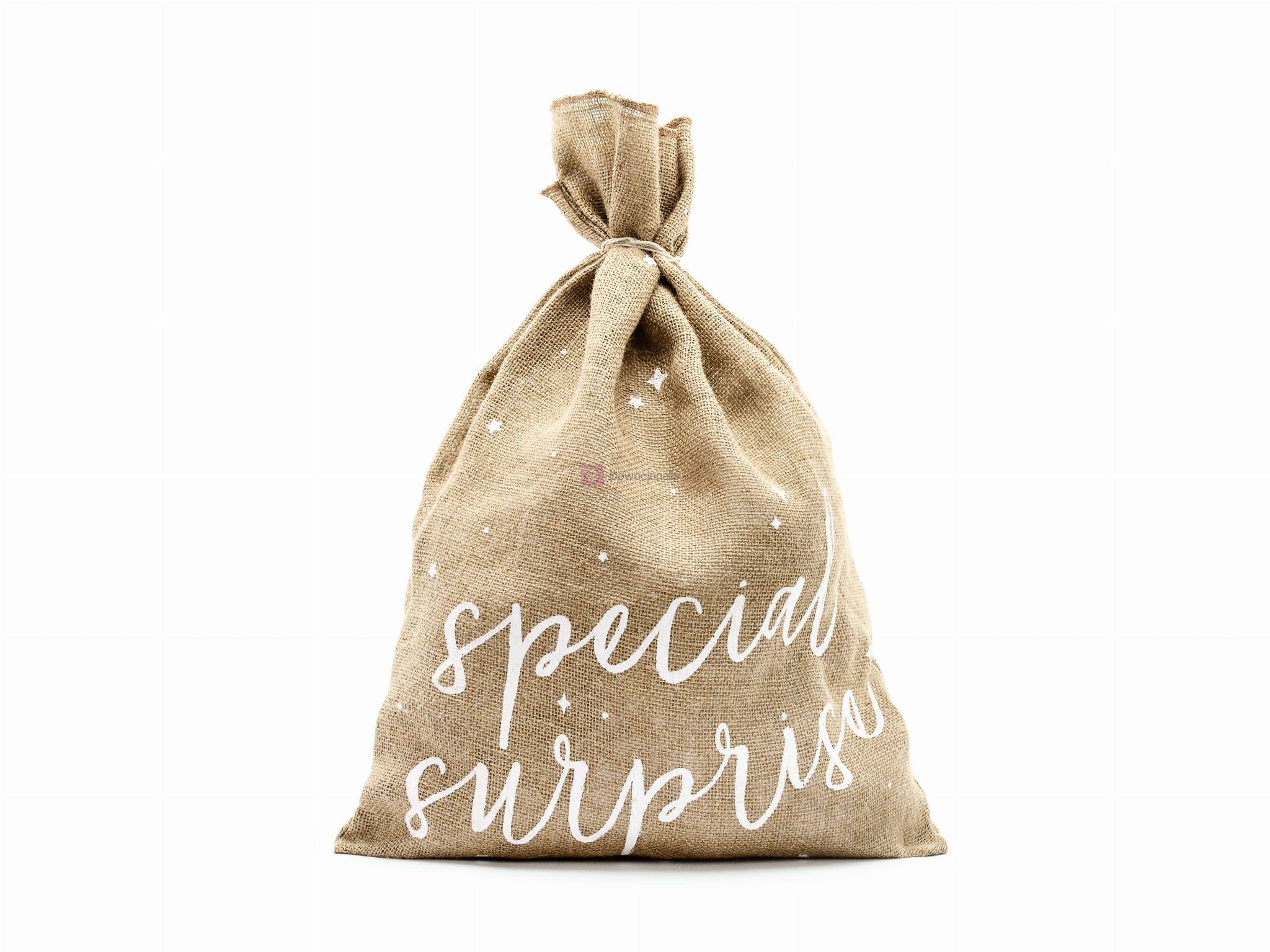 "Worek jutowy XXL ""Special Surprise"" 40x55cm - Eko  prezent"