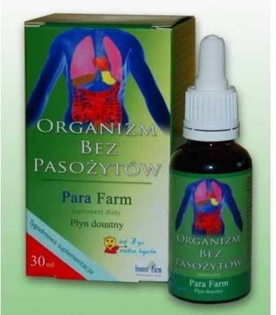 Preparat ziołowy przeciw pasożytom, grzybom, bakteriom w organizmie Para Farm 30ml