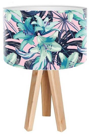 Lampa stołowa mini-trójnóg Niebieska Lilia