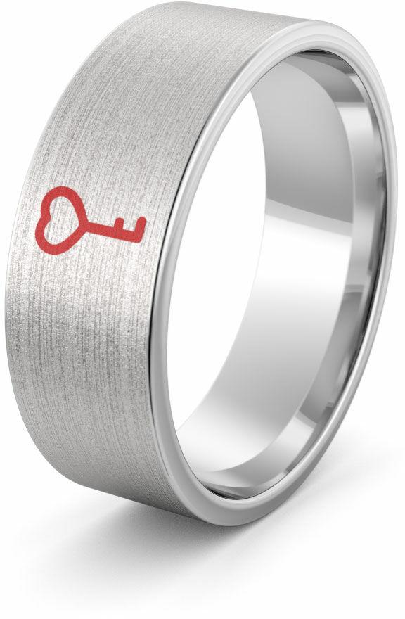 Obrączka srebrna kluczyk - wzór Ag-386