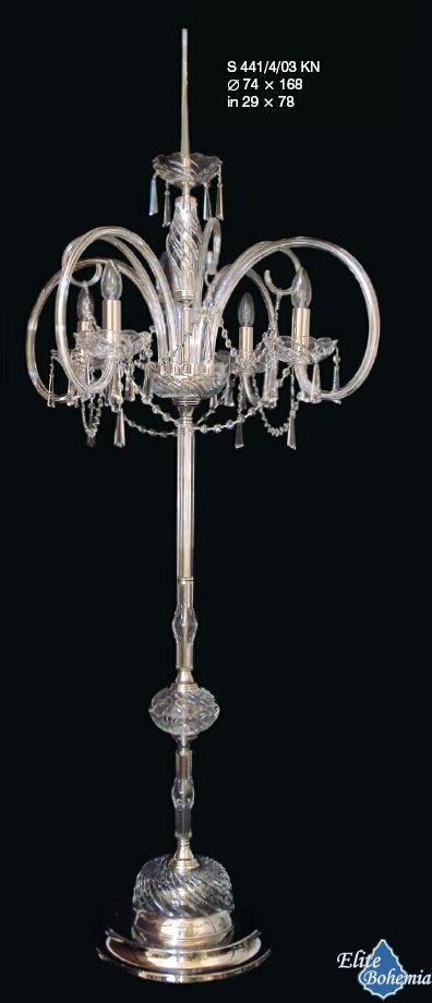 Lampa podłogowa kryształowa na 4 żarówek - Elite Bohemia