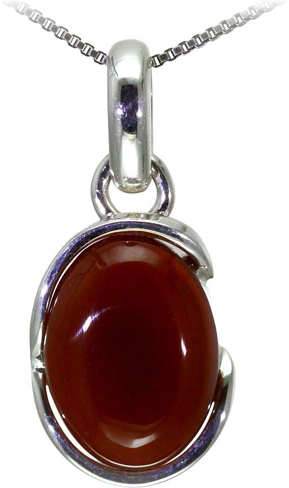 Kuźnia Srebra - Zawieszka srebrna, 33mm, Czerwony Onyks, 6g, model