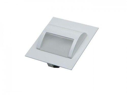 Oprawa schodowa LED 1,5W 12V biała zimna - obudowa biała