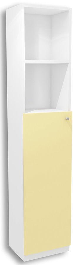 Biało-żółty regał dziecięcy Lili 11X - 3 kolory