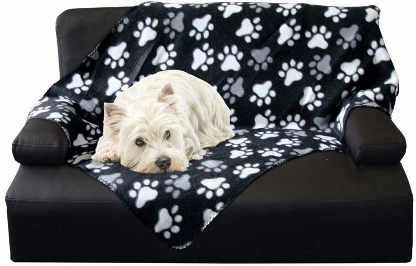"""NOBBY 60875 klasyczna kocyk dla psa """"PIPPA"""" czarny dł. x szer.: 100 x 150 cm, L, czarny"""
