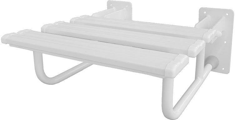 Siedzisko pod prysznic składane fi 25 Faneco stal biała