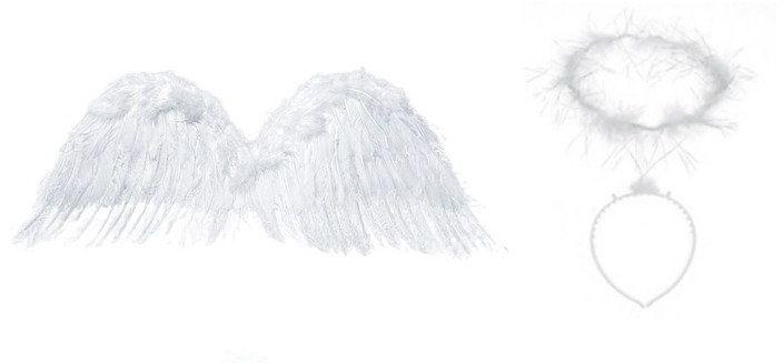 Zestaw Skrzydła Anioła z Aureolką SK4-008+OP11