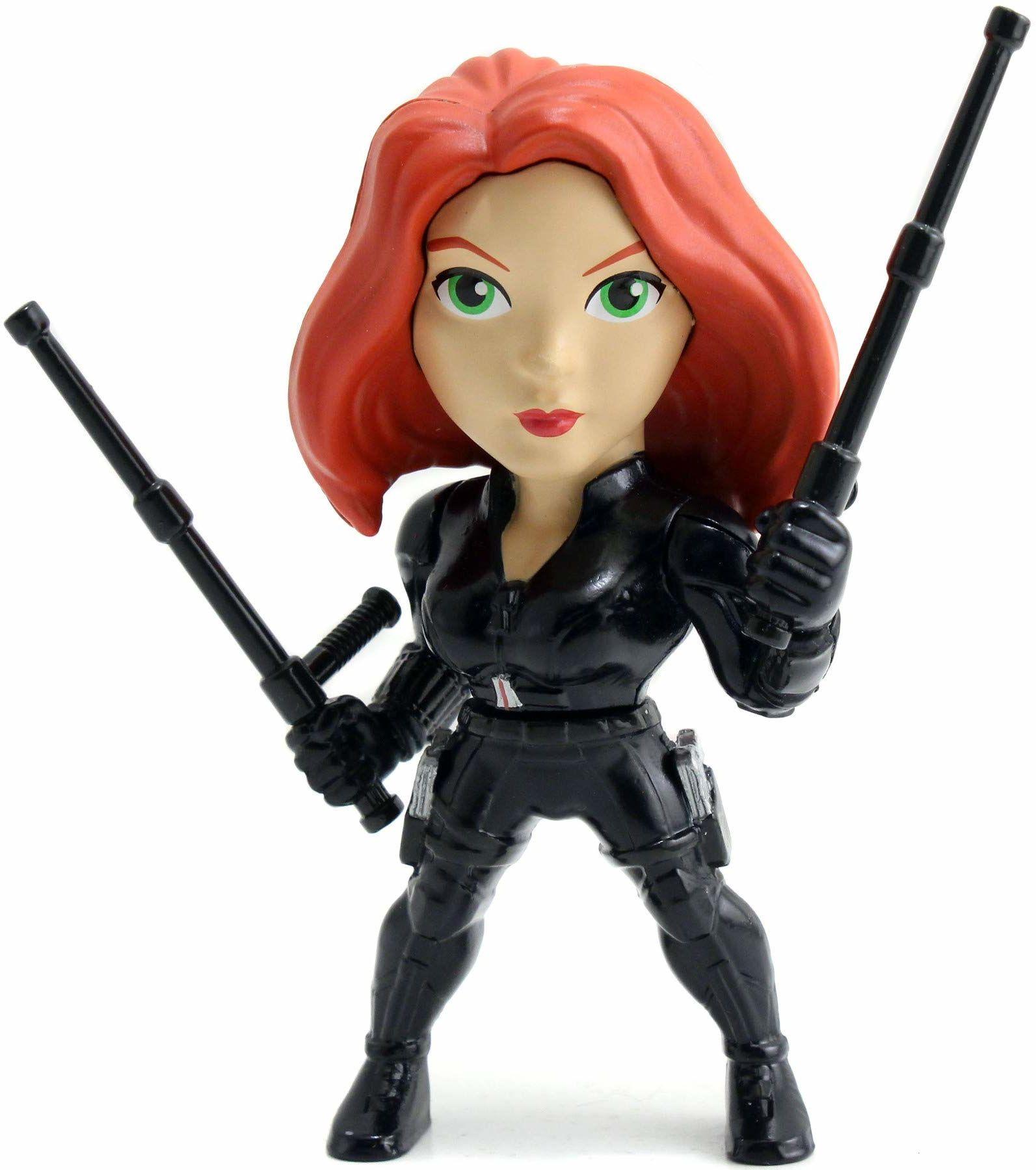 Jada Toys 253221014 Marvel Black Widow Figur, Die-cast, figurka kolekcjonerska, 10 cm, czarna