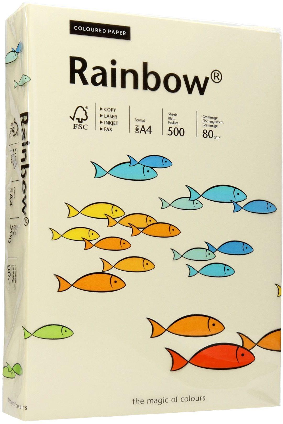 Papier ksero A4 80g kremowy Rainbow 03