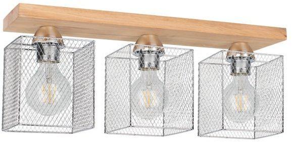 SPOTLIGHT lampa sufitowa NORMAN WOOD z 3 metalowymi kloszami 8175374