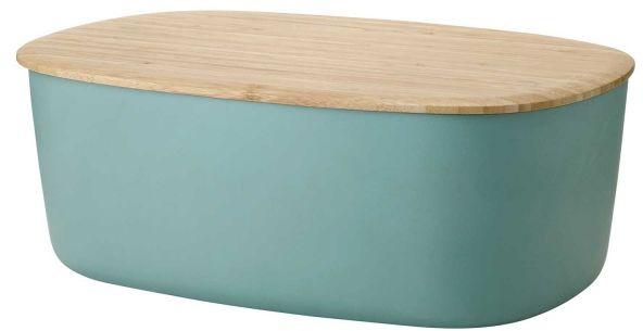 RIG-TIG by Stelton BOX-IT Chlebak - Pojemnik na Chleb z Deską Bambusową - Zielony Dusty Green