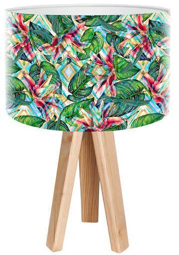 Lampa stołowa mini-trójnóg Hipnoza Kwiatowa