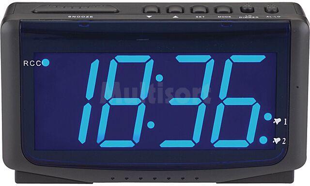 Zegar LED z duzymi cyframi i 2 nastawami budzika