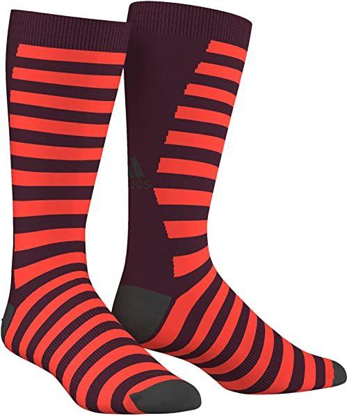 adidas Infinite Series ID Fat Stripes skarpety 1 para, czerwony/czarny, 46-48