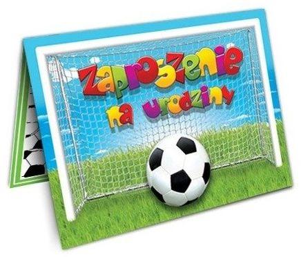 Zaproszenia na Urodziny Piłkarskie 10 sztuk ZX6900-10x