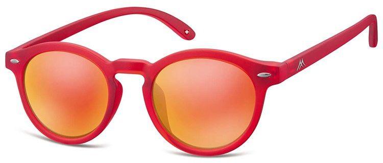 Okulary lenonki Montana MS28A czerwone lustrzanki