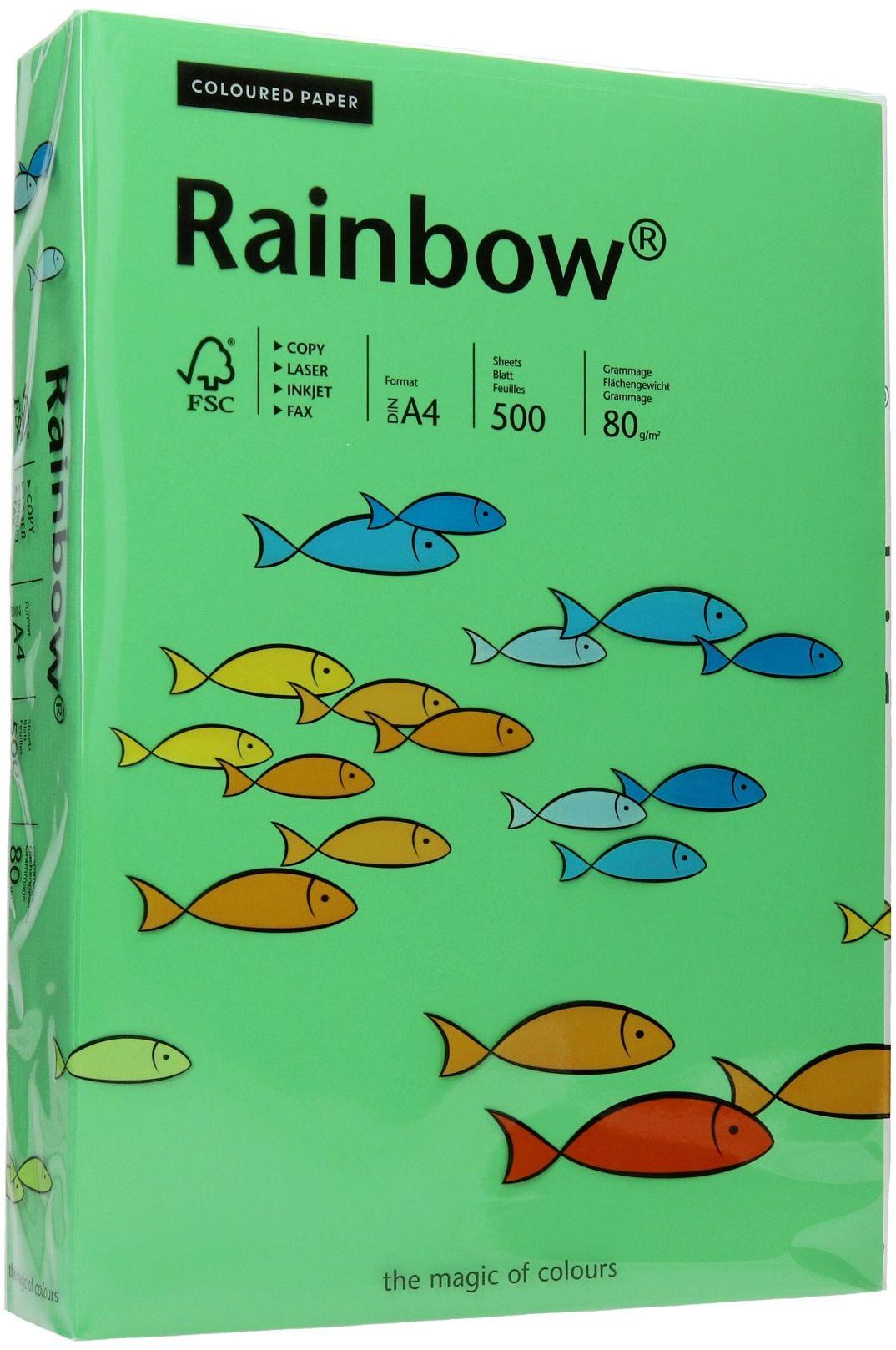 Papier ksero A4 80g ciemnozielony Rainbow 78