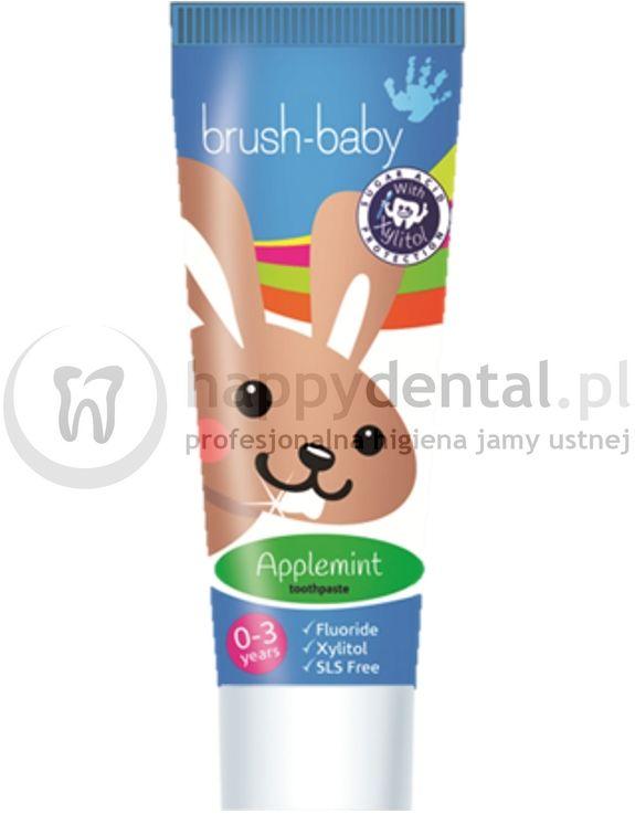 BRUSH-BABY AppleMint 50ml- pasta dla dzieci od 0 do 3 lat do pielęgnacji jamy ustnej o smaku jabłkowo-miętowym