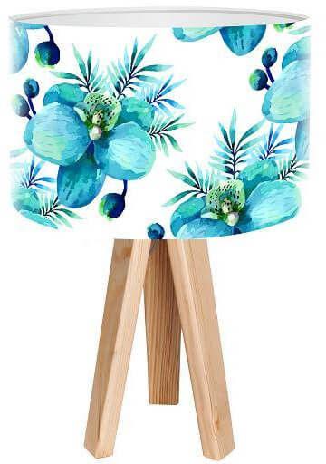 Lampa stołowa mini-trójnóg Kwiat turkusu
