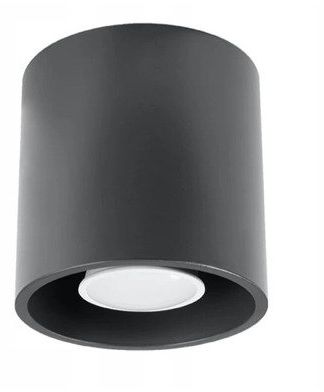 Plafon Sollux ORBIS Lampa sufitowa aluminiowa antracyt 1xGU10 40W, SL.0568