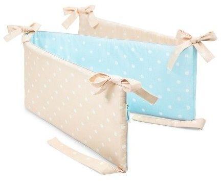 Ochraniacz do łóżeczka - Lovely Dots Mint & Beige