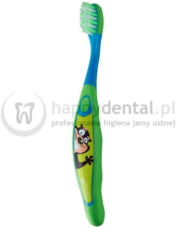 BRUSH-BABY FlossBrush 1szt. - szczoteczka do zębów manualna doczyszczająca przestrzenie międzyzębowe dla dzieci w wieku 3-6