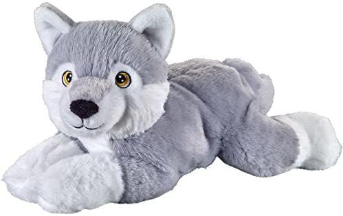 Bauer Spielwaren 12938 I Like My Planet Husky pluszak z materiału pochodzącego z recyklingu, szaro-biały