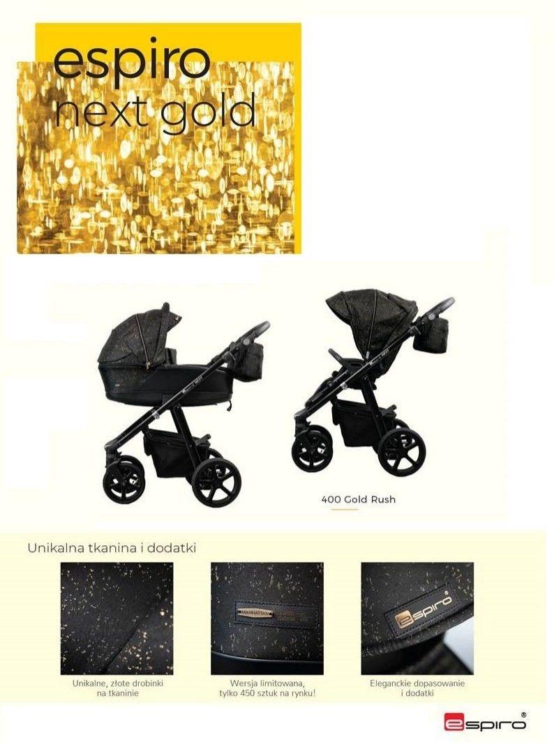 Espiro Next Avenue Limited wózek 2w1 (Gold Rush 2019)