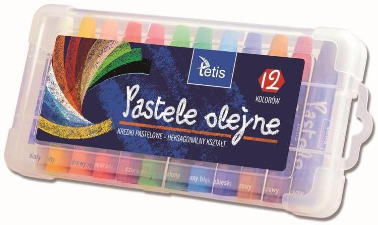 Pastele olejne Tetis heksagonalne 12 kolorów