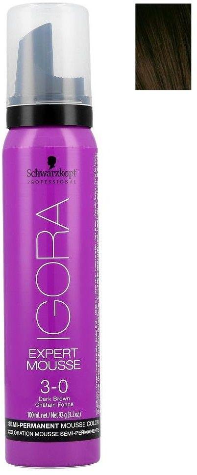 Schwarzkopf Professional IGORA Expert Mousse pianka koloryzująca do włosów odcień 3-0 Dark Brown 100 ml