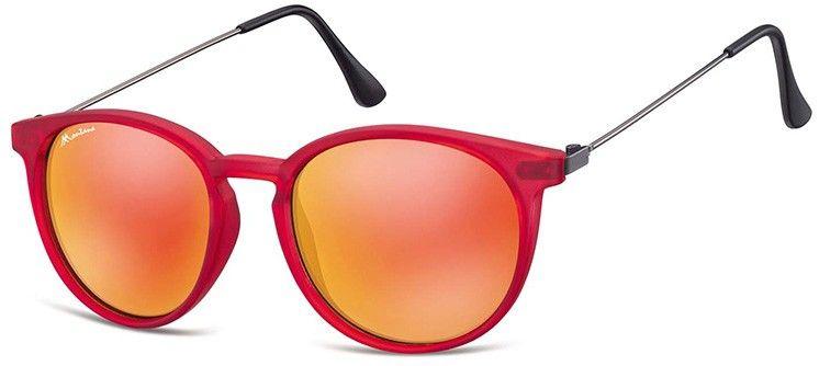 Okulary Montana MS33B czerwone lenonki lustrzanki
