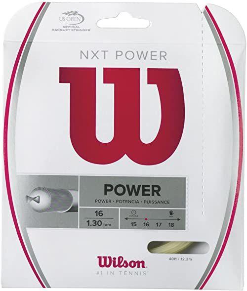 Wilson rakieta tenisowa, NXT Power, 12,2 m, przezroczysta/naturalna, 1,30 mm, unisex, WRZ941600