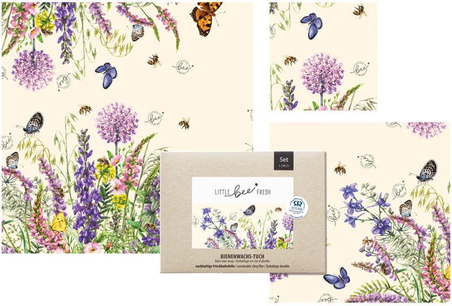 Ekologiczne Woskowijki Do Zawijania Żywności Bees Flower Meadow 3szt.